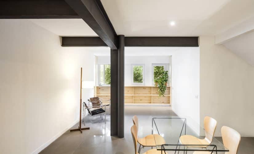 El refuerzo estructural de paredes, suelo y techo