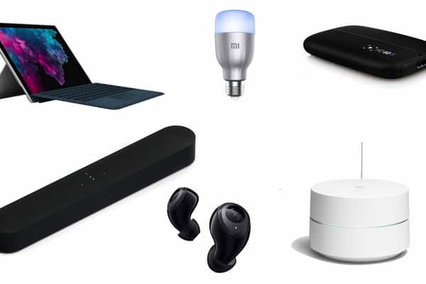 diferentes gadgets y dispositivos para regalar a empleados